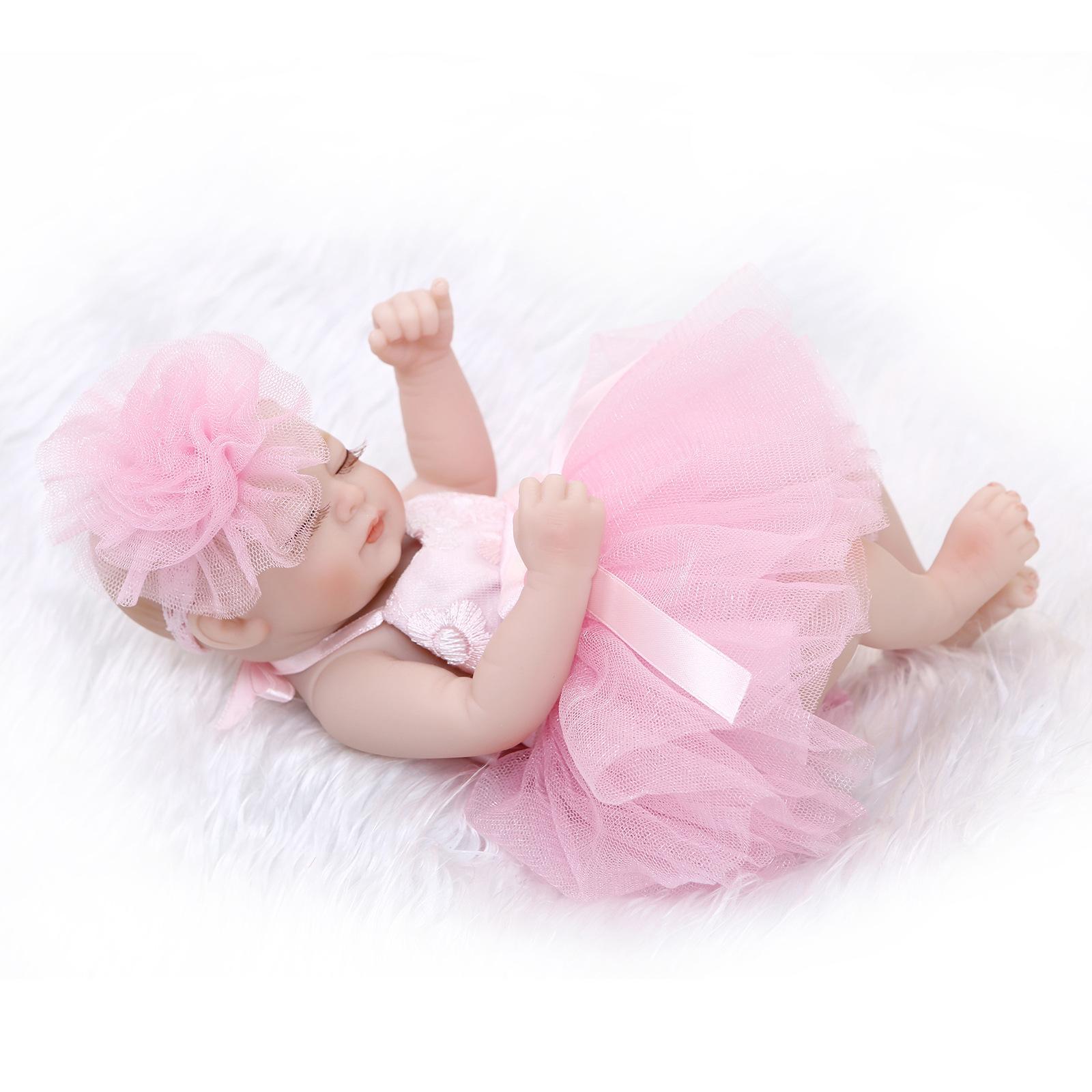 Новорожденных Baby Doll Мягкий клей Полный Rubber-водяная баня Мини куклы Горячие