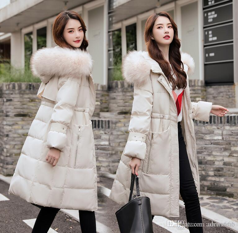 Sıcak satış Moda Tasarımcısı Kadınlar Kış Ceket Casual Parka aşağı Sıcak kayak Coats Palto lüks kadın orta uzunlukta Palto tutmak