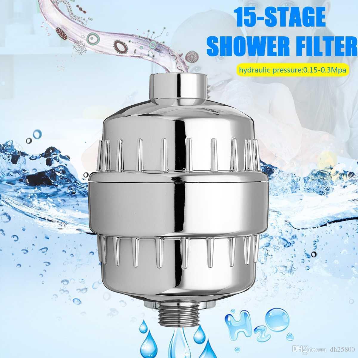 15 Stage Bath Purificador de Água de Banho Shower Filter 1/2 '' Saúde amaciante Cloro Remoção High Output Universal de Tratamento de Água