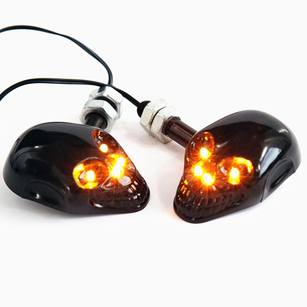 오토바이 액세서리 램프 12V 범용 다시 끼 우고 해골 고스트 페이스 LED에 불이 다채로운 전원을 켜고 빛 코너 빛을 돌려