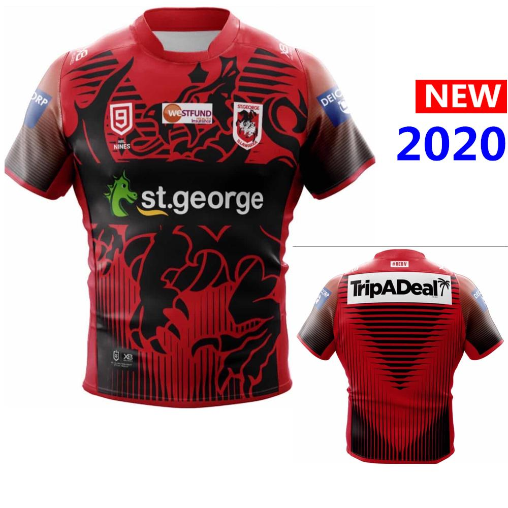 Migliore casa di qualità 2020 di rugby in Australia maglie camicia ANZAC Nines rugby Jersey singoletto grandi dimensioni 5XL SQZ-88