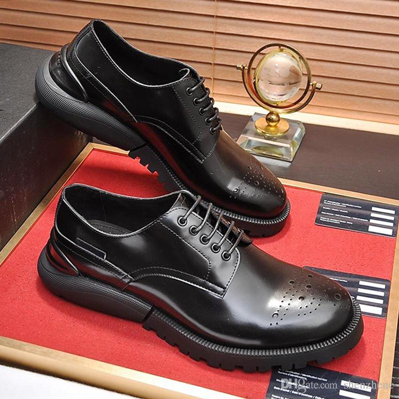 Dior Chaussures formelles Hommes Chaussures Derby En Cuir Footwears Luxe Confortable Marié Mariage Hommes Robe Haute Qualité Chaussures De Fête Zapatos de hombre
