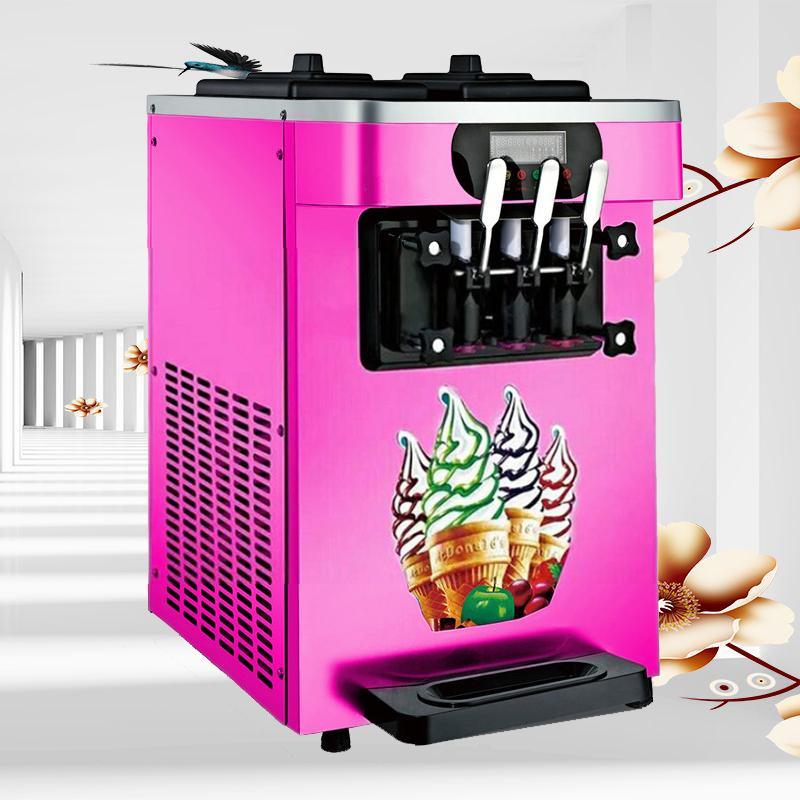 Мороженая машина три цвета бизнес настольной мини умной Экономичная автоматический машин мороженой энергией конус машина