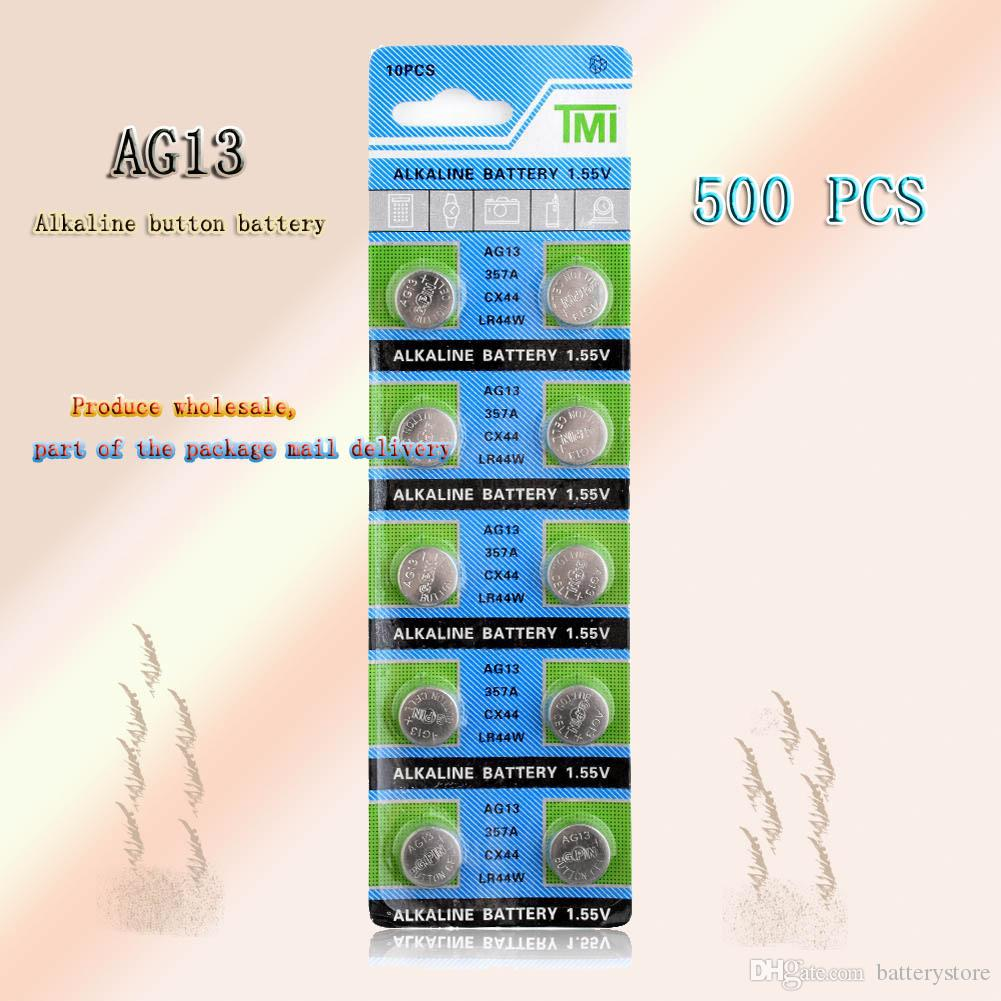 500 PCS الجملة المصنع مباشرة AG13 1.55V LR44 L1154 RW82 RW42 SR1154 بطارية زر للتحكم عن بعد لعبة ووتش وغيرها من عملة البطارية