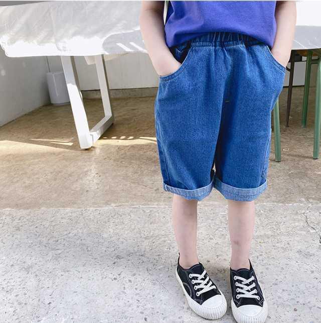 2020 Chegada Nova Meninas Meninos Denim Pants Verão Moda meninas miúdos Calças 1-7t