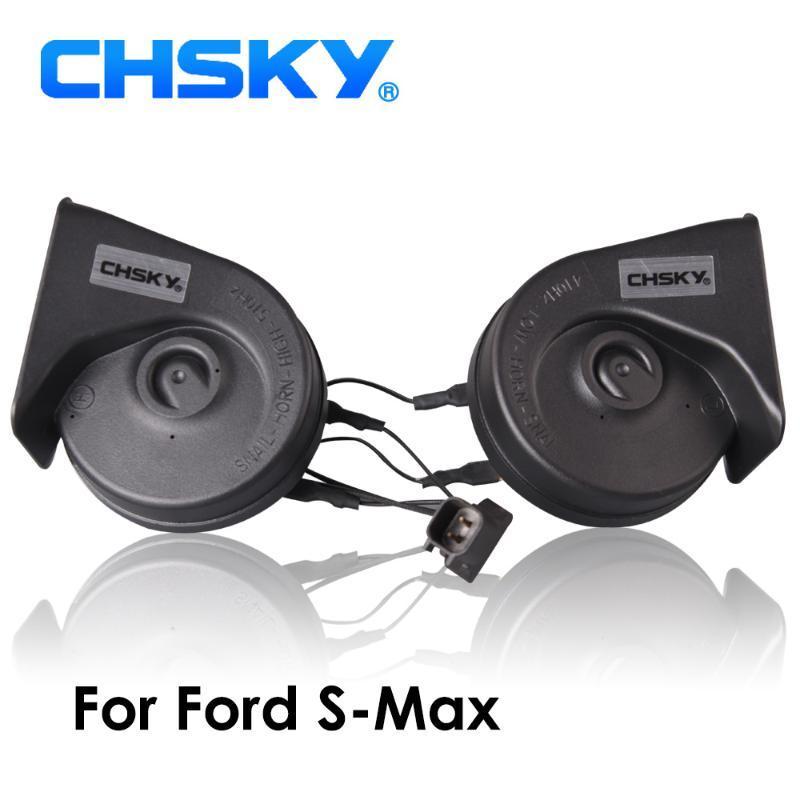 Şimdi 12V Loudness Loudness 110-129db Otomatik Uzun Yaşam Süresi Yüksek Düşük Klaxon için CHSKY CarHorn Salyangoz tipi Horn İçin S-Max 2006