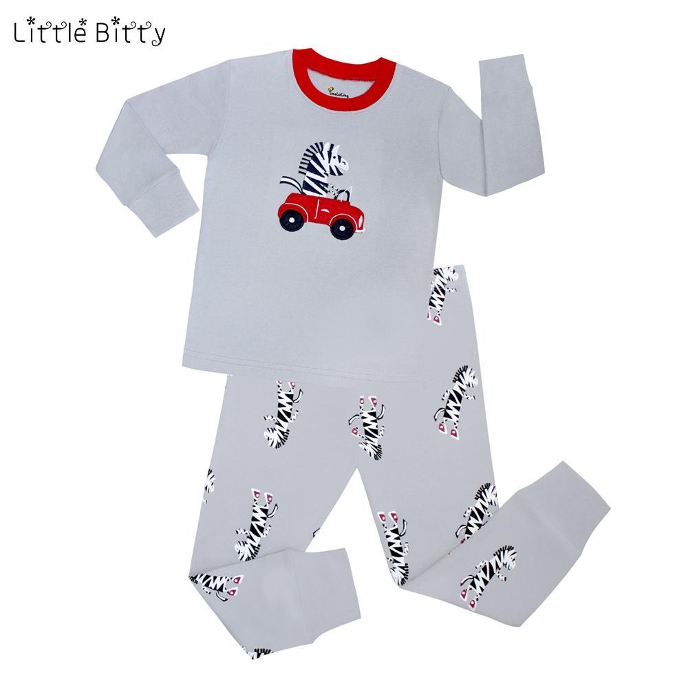 الاطفال منامة 100٪ قطن بنين مجموعات منامة للأطفال ملابس للنوم ملابس الطفل مجموعات الحصان Pijamas بنين زيبرا ملابس نوم للأطفال نقابة الصحفيين الفلسطينيين