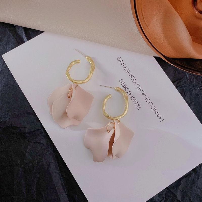 2020 nuovo Internet e celebrità molandi colore donne petalo di orecchini nappa esagerato lunga temperamento orecchini