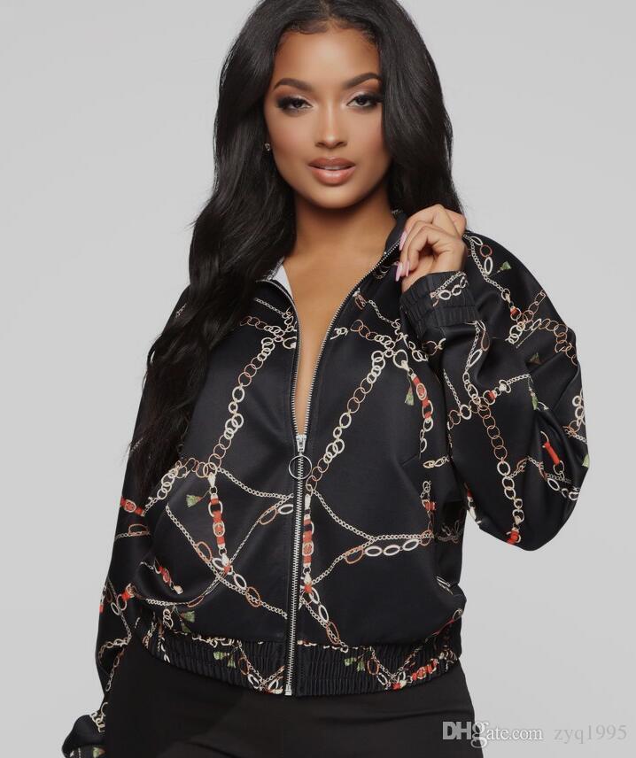 Новая тенденция куртки женской моды печати куртки женщин прекрасно