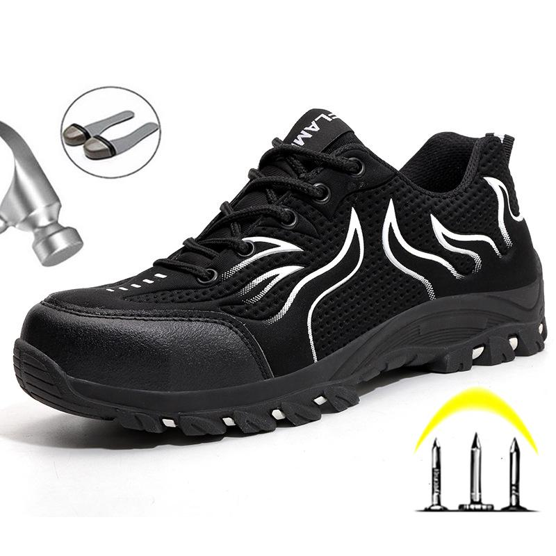 Men/'s Work Safety Shoes Steel Toe Boots Indestructible Slip On Non-slip Sneakers