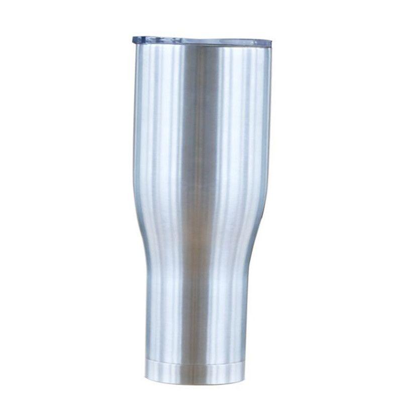커피 뚜껑 40온스 곡선 텀블러 현대 커브 컵 곡선 물 머그잔 더블 레이어 스테인레스 스틸 병