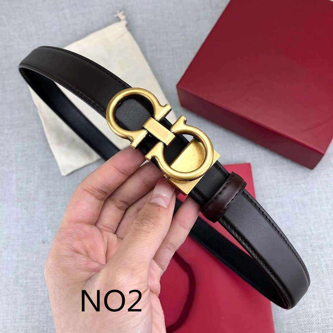 Cinture donna alla moda Cinture donna elegante cinghia casuale 8 Lettera inarcamento liscio Larghezza della cinghia 24 millimetri altamente qualità