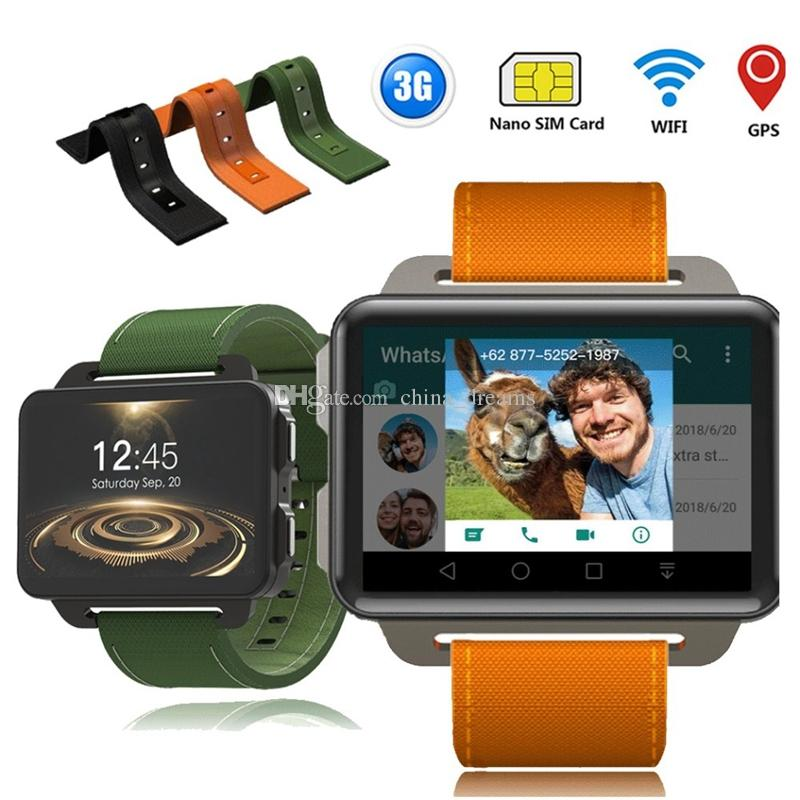 DM99 Android Smart Watch Orologio da 1GB 16GB 1200mAh Batteria 130W Fotocamera GPS WiFi SIM MP4 3G Orologio Smartwatch