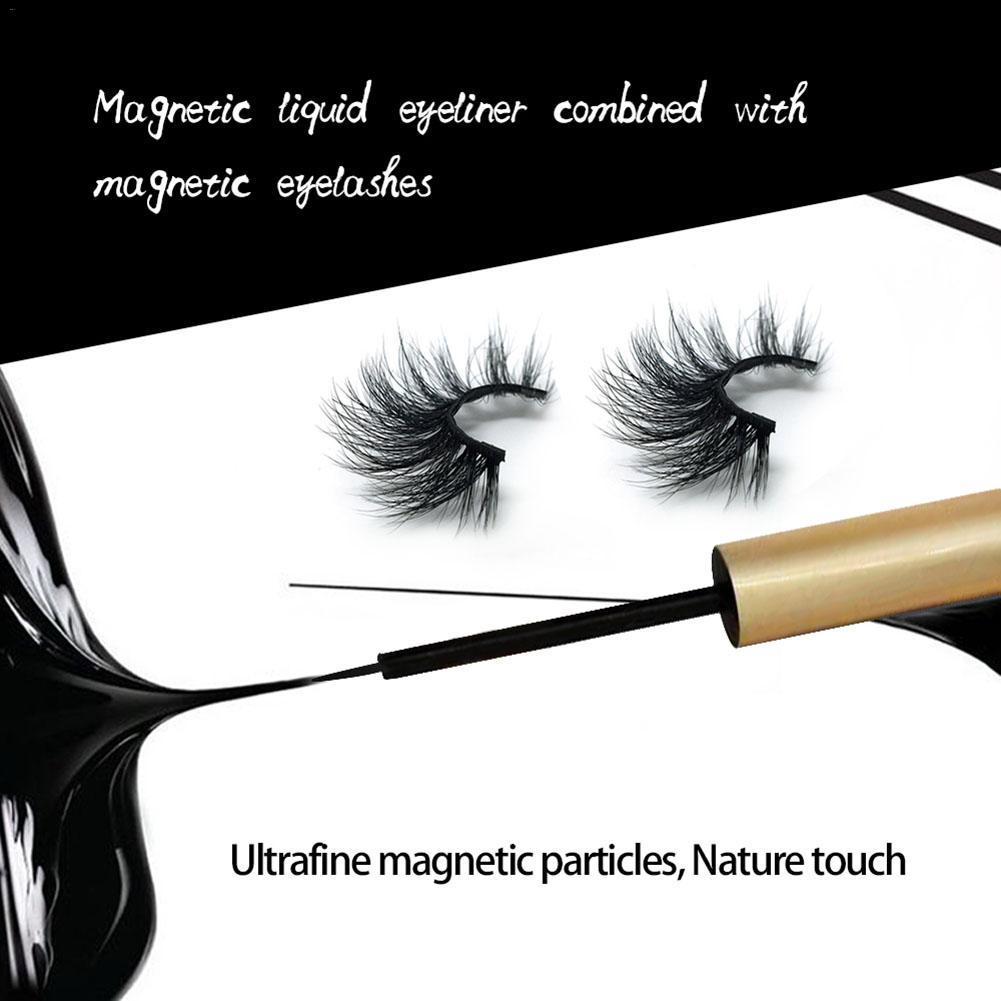 Nouveaux Faux Cils magnétique Traceur liquide hydrofuge naturel magnétique Faux cils avec cinq magnétiques 1 paire Cils