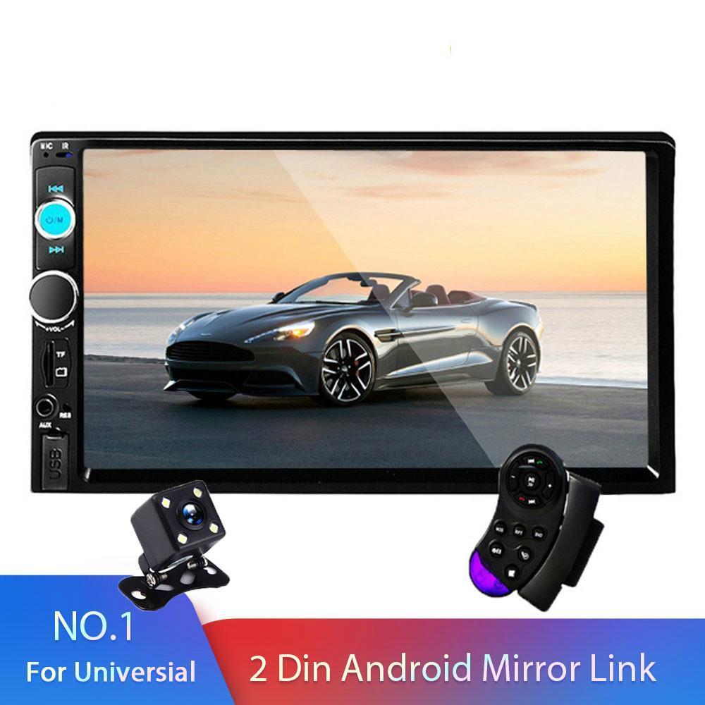 2 الدين راديو السيارة 7 ستيريو شاشة HD Autoradio مشغل الوسائط المتعددة اللمس السيارات السمعية للسيارات مشغل DVD MP5 بلوتوث USB TF FM كاميرا