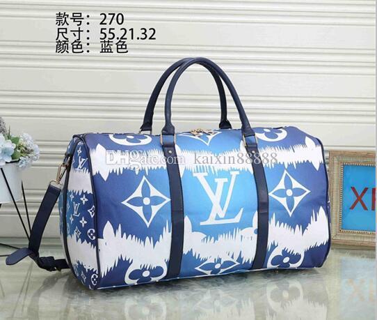 55CM de grande capacidade escale Mulheres Sacos de viagem Famoso designer Clássico venda de alta qualidade homens ombros Sacos de duffel transportar bagagem