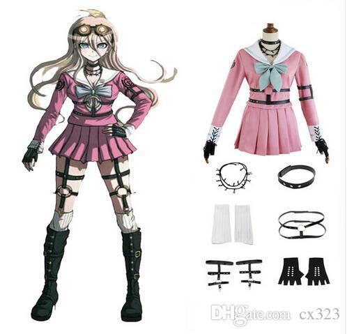 Cosplay Kostüm Danganronpa V3: Öldürme Harmony Iruma Miu Tavşan Üniforma Cadılar Bayramı Noel Anime custom made