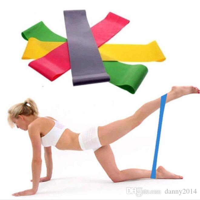 Spannung Widerstand Band Pilates Yoga Gummi Widerstand Bands Seil Gummi stretch übung yoga Schleife fitness Spannung bands