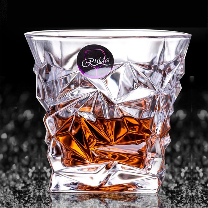 Brand Wine Glass Lead-free Heat Resistant Transparent Crystal Beer Whiskey Brandy Vodka Cup Multi Pattern Drinkware Bar Gifts Y200106