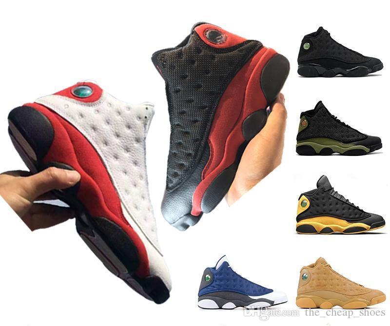 13 basketbol ayakkabıları o oyun Klasik 13s hiper kraliyet DMP HOF siyah kedi oyun baronları Gri Burun Retro spor ayakkabısı zeytin var