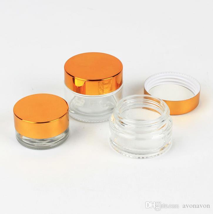 plástico astilla oro botella crema cubierta 15g 20g 30g 50g 100g 5g 10g cara de vidrio esmerilado de botellas máscara transparente perfume CZ233 embotellado