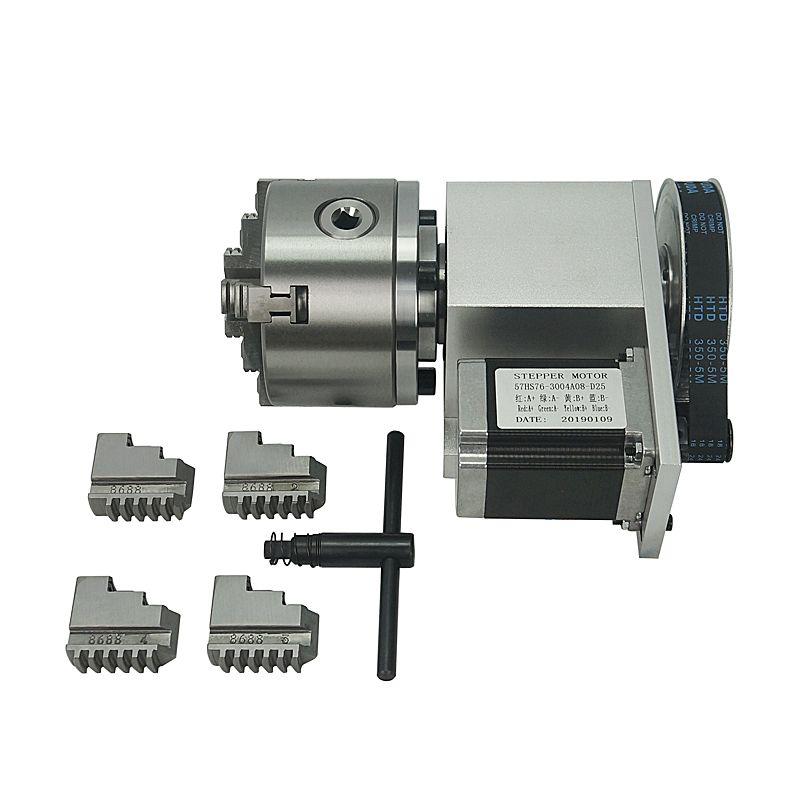 4e CNC axe A, axe rotatif d'intérêt d'Aix avec mors de 100 mm pour la machine cnc routeur miiling K5M-6-100A