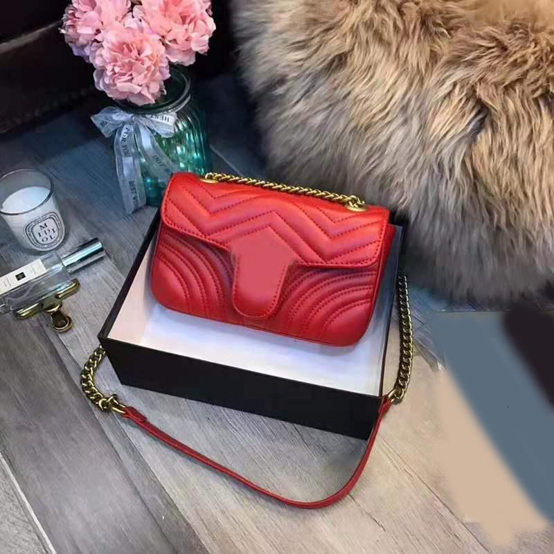 donne ang borse del progettista della borsa di lusso borse a tracolla crossbody Messenger Bag catena di buona qualità in vera pelle classico stile caldo di vendita