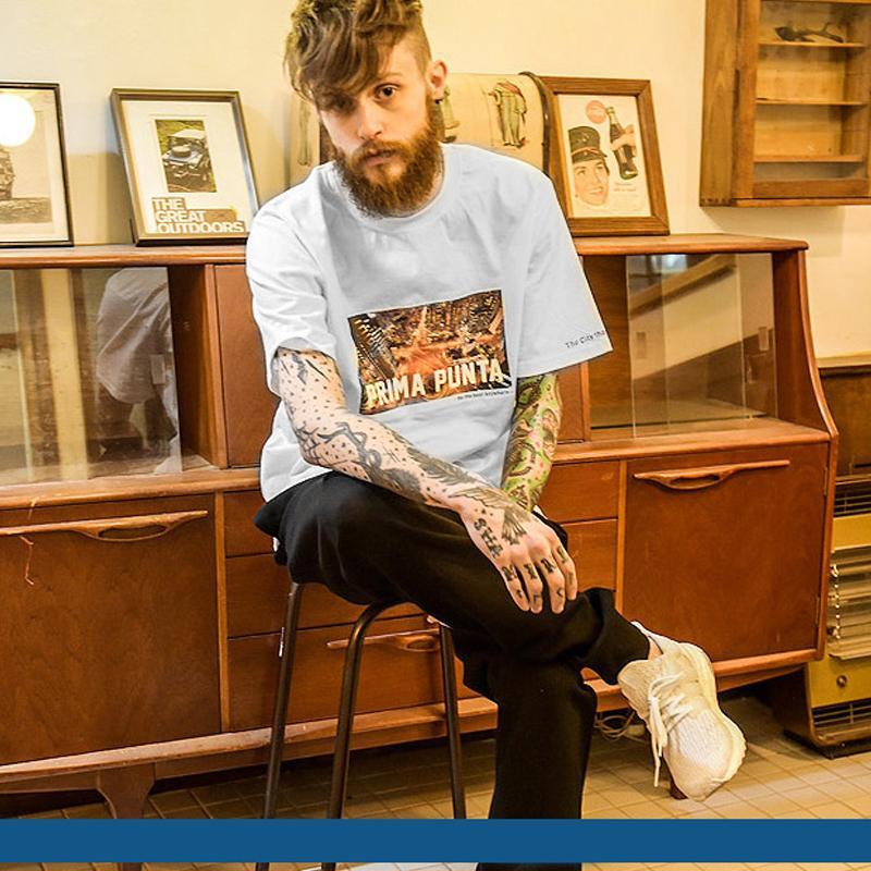 Оптовая продажа-Модные мужские дизайнерские футболки хип-хоп Мужские футболки ретро повседневная Мужчины Женщины мультфильм печати с коротким рукавом размер S-3XL