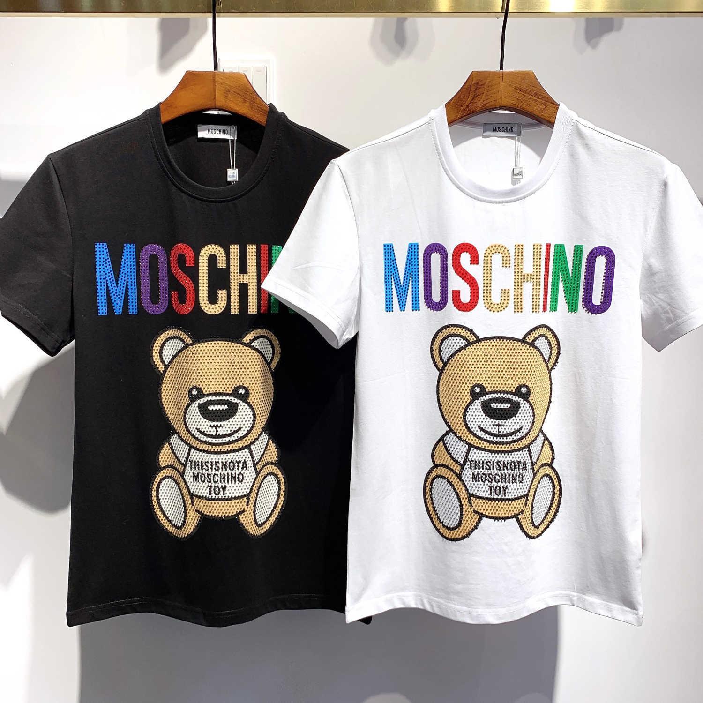 Fly 2019 New Fashion Design Männer und Frauen-T-Shirts aus reiner Baumwolle mit kurzen Ärmeln und Rundhals T-Shirt Brief Printing beste Qualität