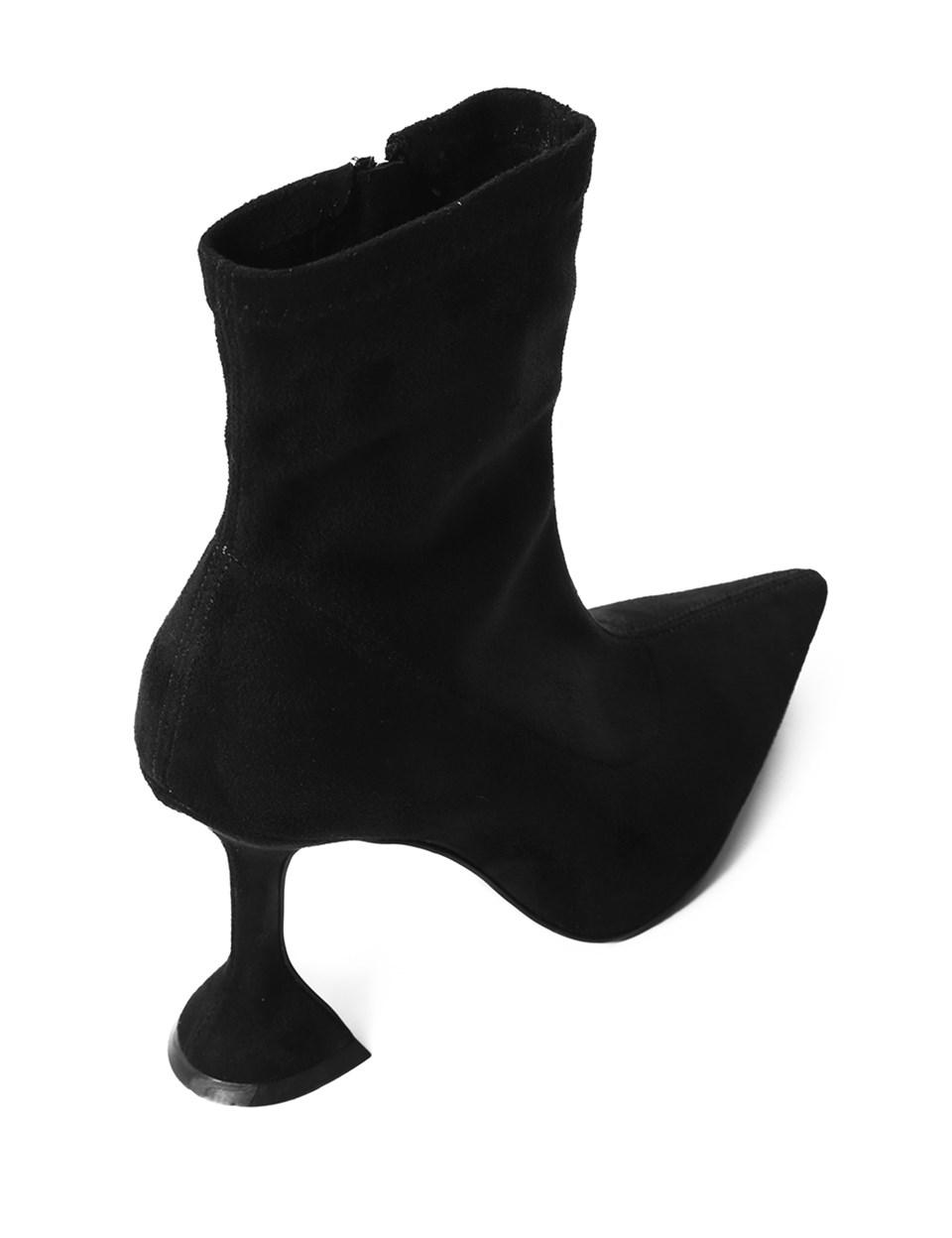 Melina Women's Heeled Boot Black Suede Stretch