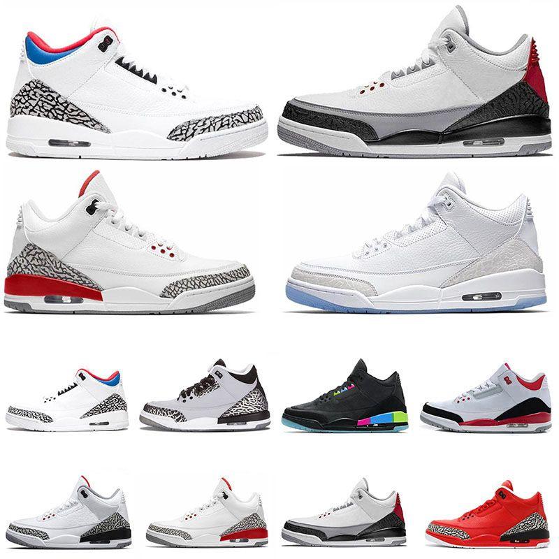 2021 En Kaliteli Moda 3 S Erkek Basketbol Ayakkabı 3 Siyah Glow Sarkta III Rahat Tasarımcı Erkekler Sneakers Spor Eğitmenler Boyutu 13