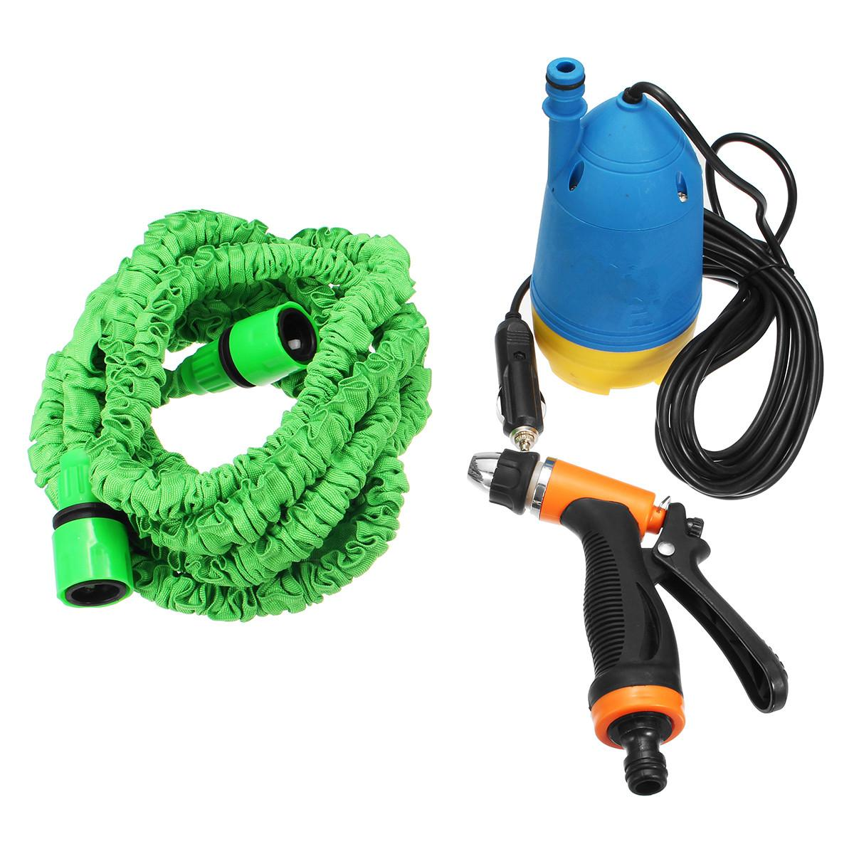 12V Portable High Pressure Car Electric Washer Auto Wash Pump Set with Hose and Water Guns