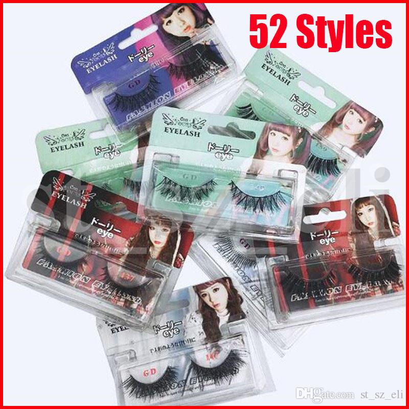 52 Styles 3D Mink Reusable False Eyelashes Hair Strip False Eyelash Makeup Long Individual Eyelashes Mink Lashes Extension