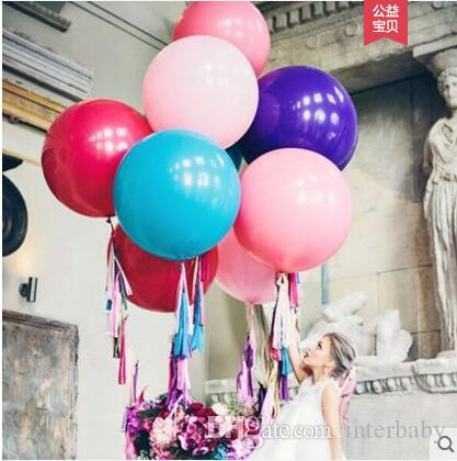 Balloon Colorful Giant Balloons Kid Toys Balloons Child Birthday Party Balloons Valentine Wedding Decorative Favors Supplies 36 Inch TL418