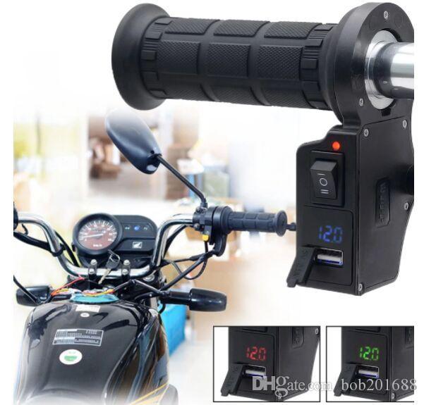 Nuovo 3 in1 Nero manubrio del motociclo Electric Hot riscaldata manopole di tensione USB Charger CS-503