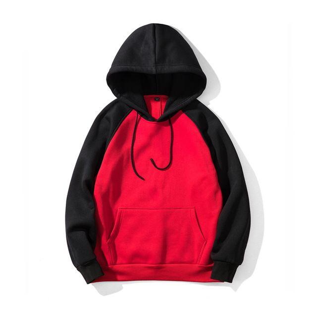 2020 Streetwear Patchwork Fashion Hoodie Men Hip Hop Hooded Solid Slim Fit Casual Hoody Mens Hoodies Sweatshirts yaya-75
