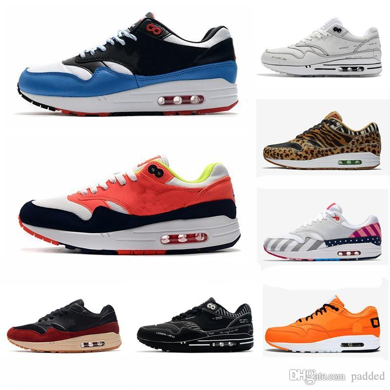 2020 New 1 87 Sketch To Shelf ATMOS Running Shoe Animal Pack 1s parra Leopard Men Women Classic Athletic Zapatos Trainers