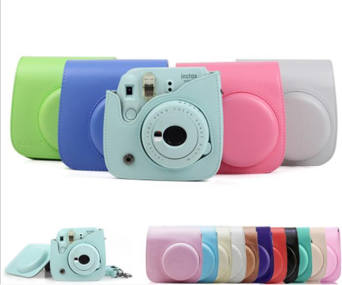 Compatível Couro PU Instax Camera Case Bag para Fujifilm Instax Mini 7S 7c imediata Câmera e Polaroid PIC-300 Camera