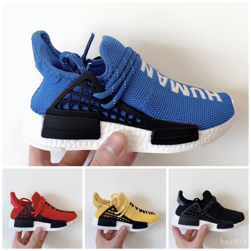 Adidas PW HU Holi NMD MC 2020 Infant Race bambini scherza gli sport hu scarpe ragazze all'aperto e ragazzi scarpe Nero Giallo Rosso HU bambino in esecuzione
