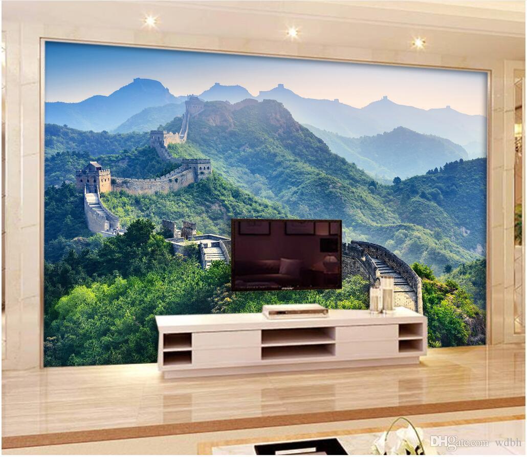 WDBH 3d wallpaper foto personalizzata Cinese bellissimo e magnifico Great Wall scenario camera decorazioni per la casa 3d murali carta da parati per pareti 3 d