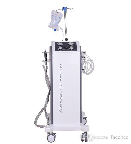Nova chegada! Vertiacl 3 in1 Hydra Facial Oxigênio da água dermoabrasão Pistola Micro Needle Jet Peel Spa rejuvenescimento da pele Salon Uso Doméstico