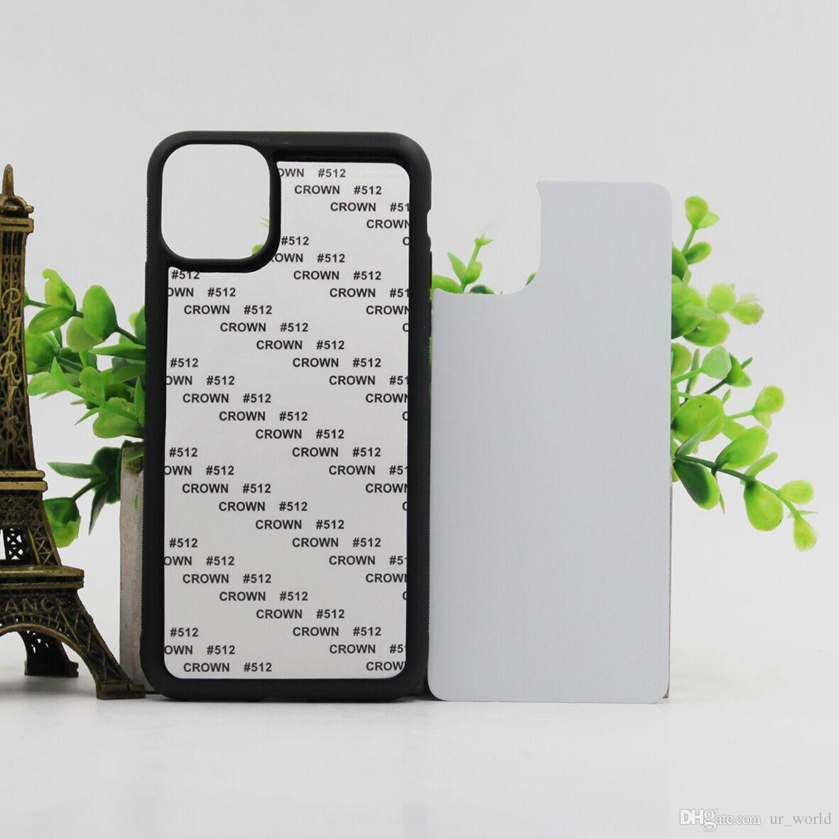 Für iPhone 11 Pro Max 2D Gummi Sublimation TPU Handy-Fall DIY Drucken leer Schutzhülle für das iPhone XR XS MAX