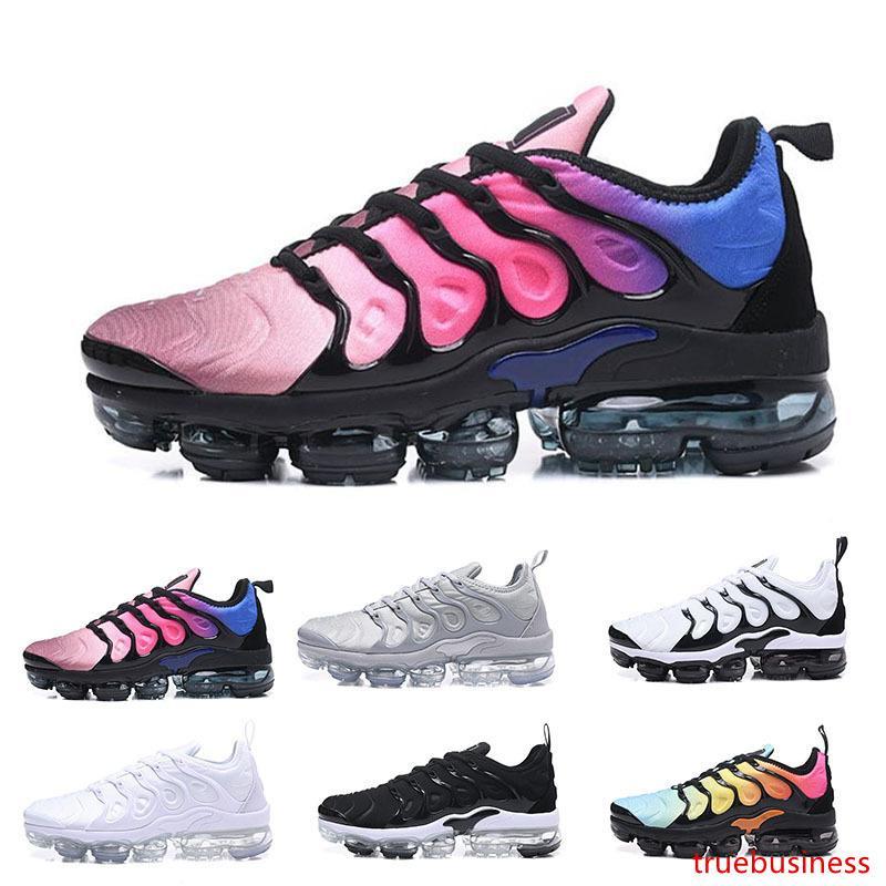 2019 venta hombres TN Plus Olive In Metallic White Silver Colorways zapatos al aire libre hombres mujeres al aire libre Triple TN aires negros zapatos para caminar 40-45