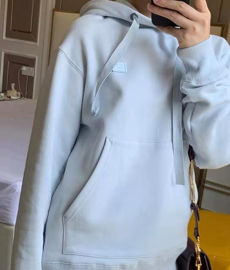 100% Cotton Women's Hoodie Casual Loose Hooded Pullover add Velvet Long Sleeve Sweatshirt Y200610