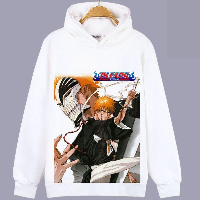Bleach Hoody Roll Stern Sweatshirt Alones anime unisex Tops Cartoon farbecht Pullover mit Kapuze Sweat-Shirt Qualität Pullover