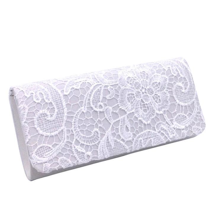 Designer-Mode Abendtaschen Kupplungen für Frauen Satin Material Abendtasche elegante Spitze Damen Hochzeit Tasche Schultertaschen