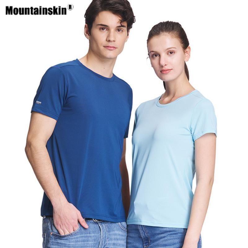Mountainskin Frauen Männer Wandern, schnelltrocknende T-Shirt im Freien Sport Climbing Camping Trekking Angeln atmungsaktiv Short Sleeve VA767
