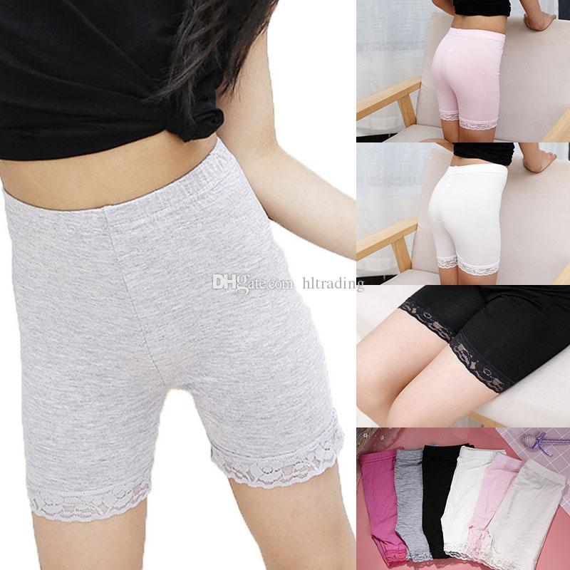 Bambini Modal Cotton Shorts Fashion Pizzo Leggings per ragazze Pantaloni di sicurezza Collant Baby Collant Pant Anti-Light Breve M326