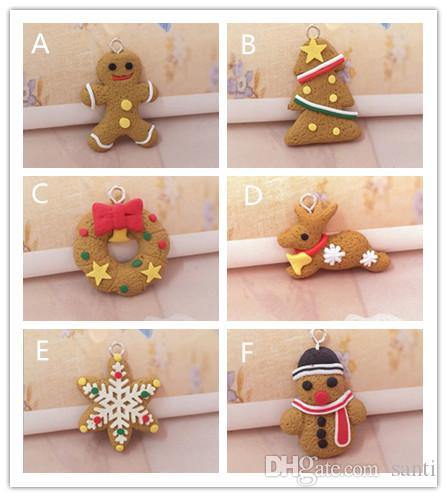 Yeni Festival Mini Gingerbread Man Noel Süsler Geyik Kardan Adam Chrismas Ağacı kolye Dekorasyon Yılbaşı Dekor Parti Malzemeleri