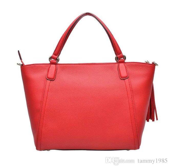 Rote Karosserie Geldbörse Damen Handtaschen Schulterhandtasche Damenabhängige Ledertasche Tote Kreuzbeutel Top-Griff FQImi